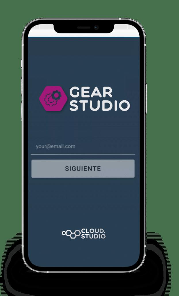 Gear App Mobile mockup cloud studio